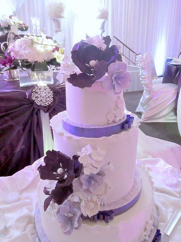 Cakechannel World Of Cakes Purple Themed Wedding Cake
