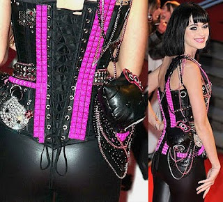 Katy Perry wearing Hello Kitty corset