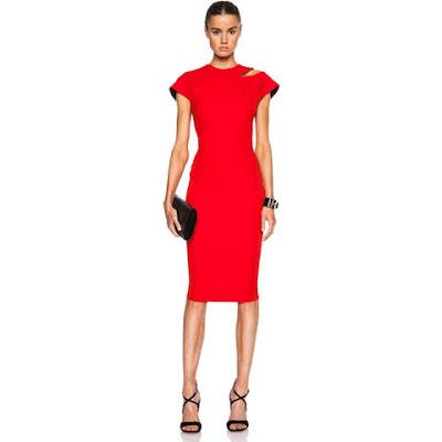 grife victoria beckham vestido vermelho