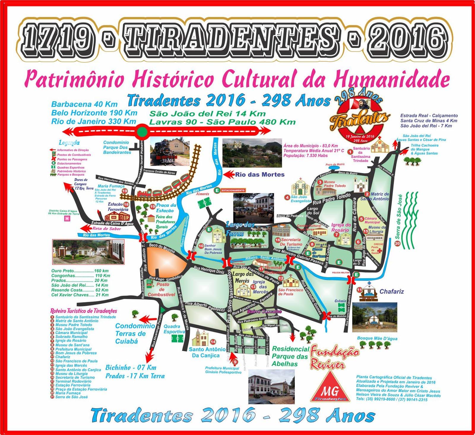 Roteiro Turístico de Tiradentes Patrimônio Histórico Cultural