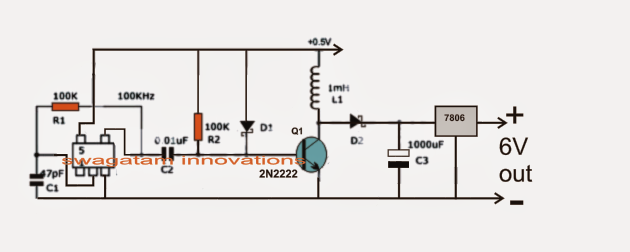 Simple 0.6V to 12V Boost Converter Circuit