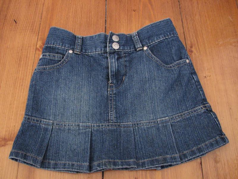 Юбка сшить из старых джинсов своими руками