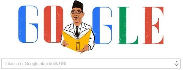 Logo Google Doodle Ki Hajar Dewantara Bapak Pendidikan Indonesia