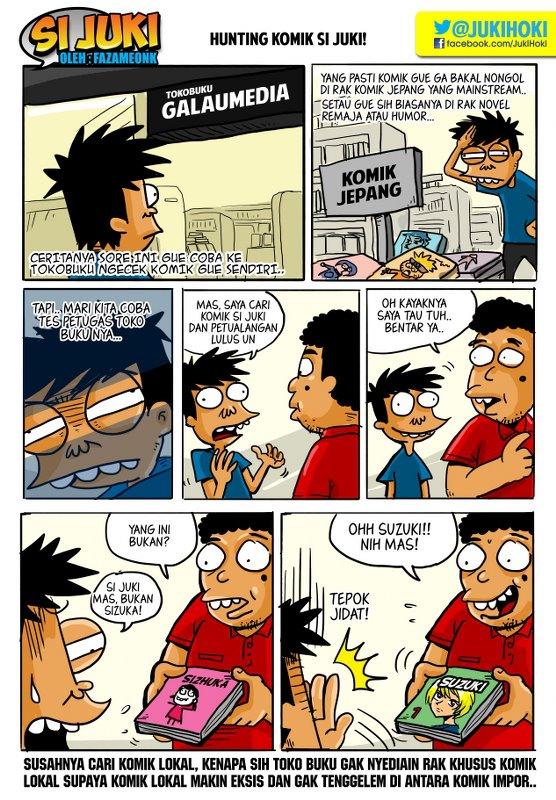 Gambar Lucu, Komik lucu si Juki cari komik
