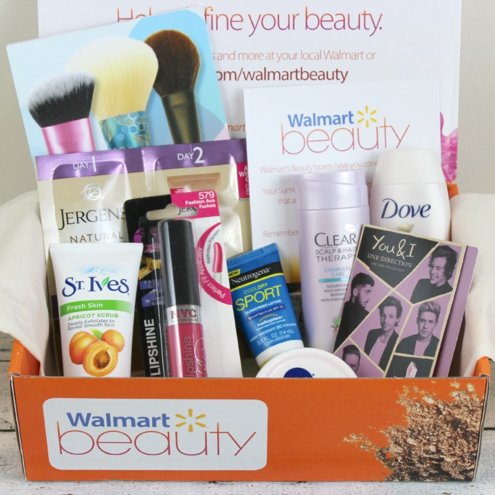 Walmart Beauty Box Summer 2015 review unboxing WMS T1