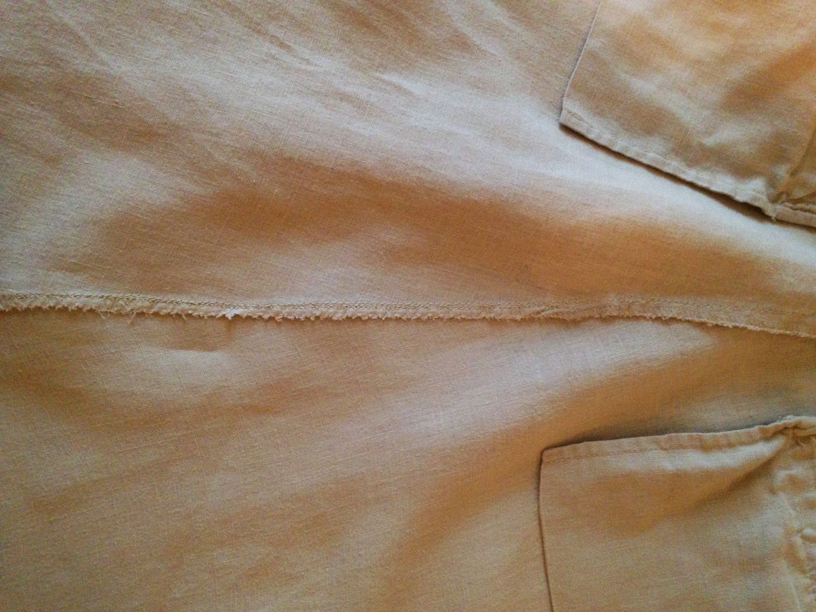 Ulterior Alterations: Linen Pant to Skirt Refashion New Seam Close-Up
