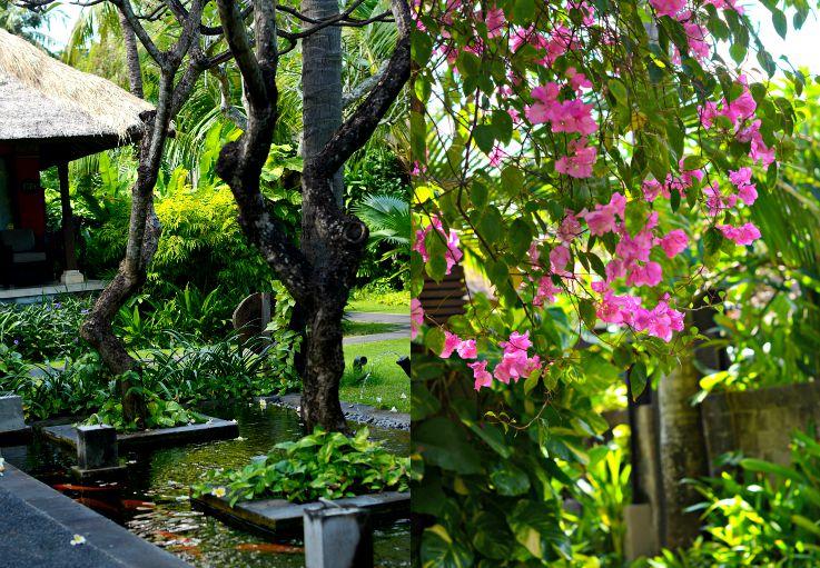 Tropical garden Legian Beach Hotel, Bali, Indonesia
