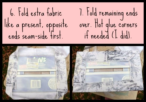 No-Sew Covered Boxes ~ DIY Friday ~ Diaper Boxes covered with Table Runners!