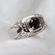 Cincin Batu Permata Blue Sapphire Ceylon - SP654