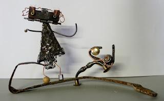 Sculpture métal La Belle et la Bête