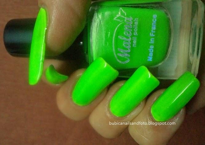 simple nails: 1713 Malena no 60, neon green nail polish