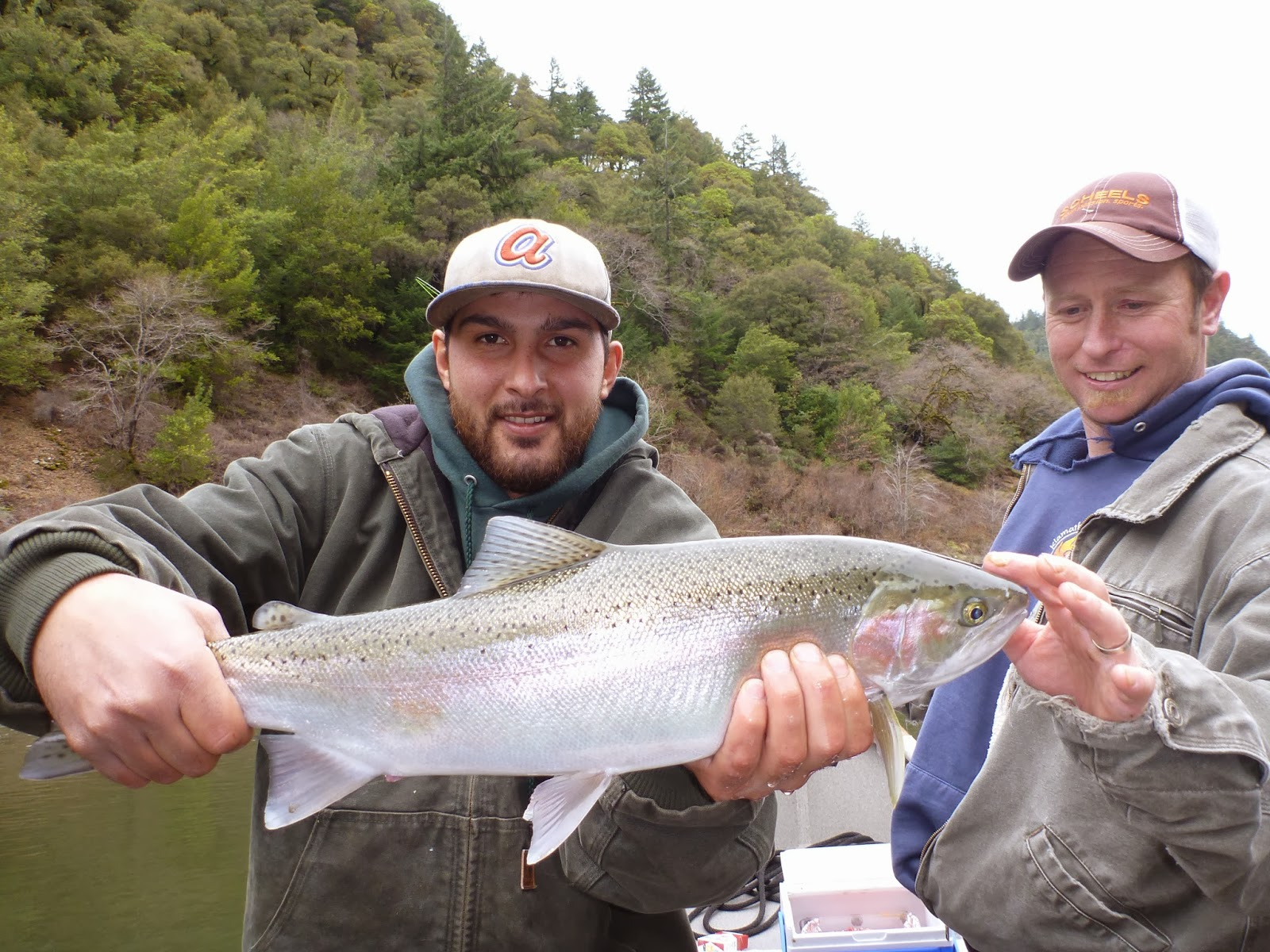 Steelhead fishing the Klamath River with Ironhead Guide Service.