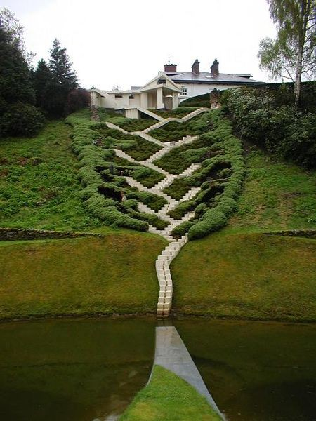New House Plans  The StairsIt winds and connects in crazy ways  Kind of like this one in Scotland    s Garden of Speculation