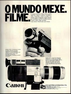 propaganda câmera super 8 Canon - 1974. 1974. década de 70. os anos 70; propaganda na década de 70; Brazil in the 70s, história anos 70; Oswaldo Hernandez;