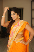 Midhuna New photo session in Saree-thumbnail-8