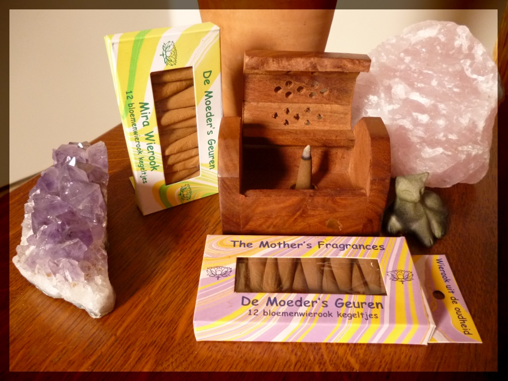 incense burner, incense amethyst rose quartz