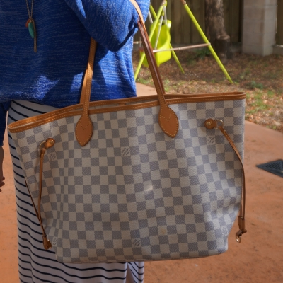 Louis Vuitton MM damier azur neverfull