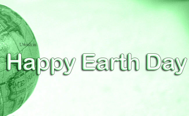 Happy Earth day e greeting cards and wishes with green earth