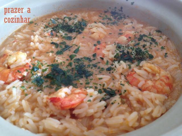 prazer a cozinhar - arroz de camarão