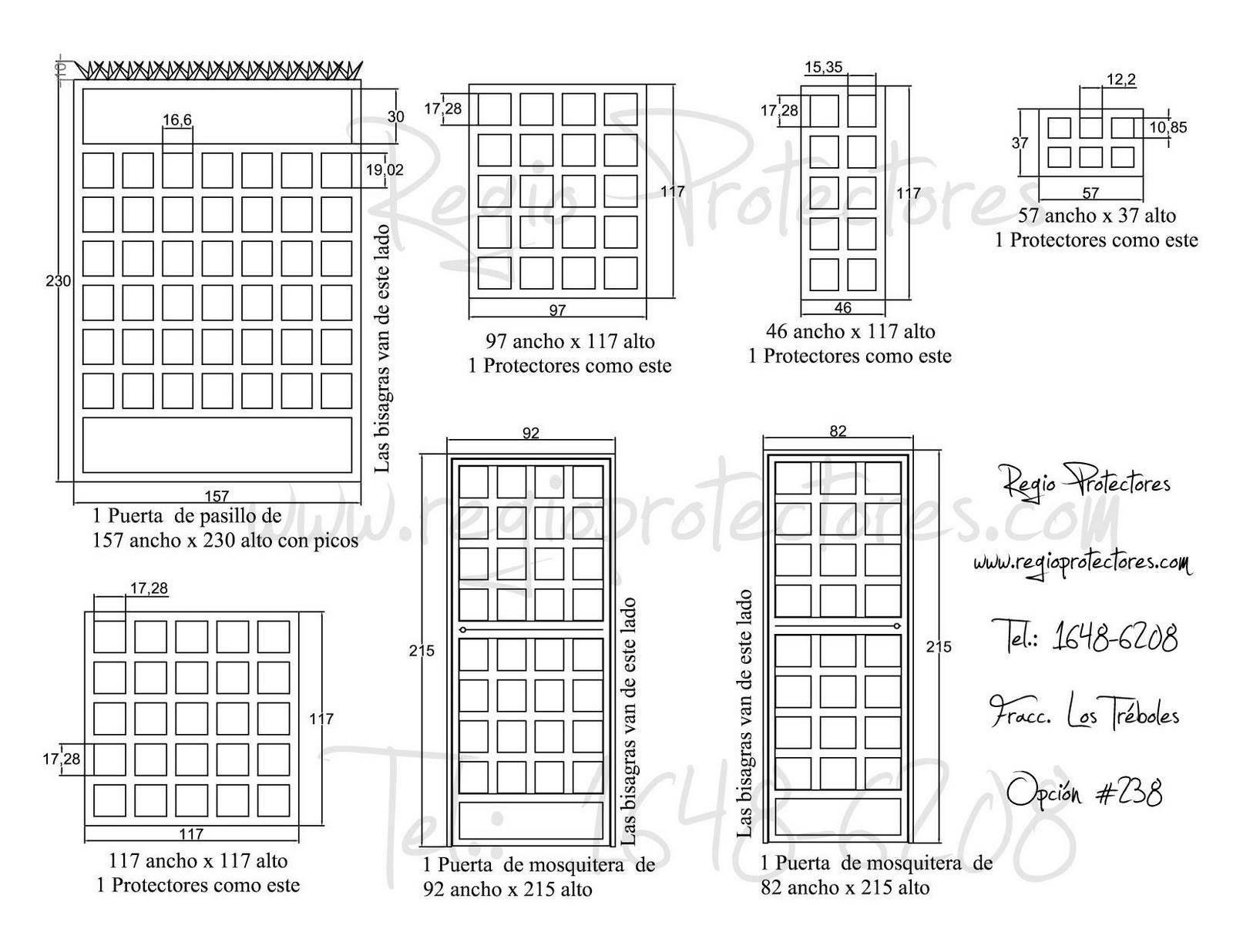 Protectores para ventanas y puertas, Fracc. Los Tréboles, Foto
