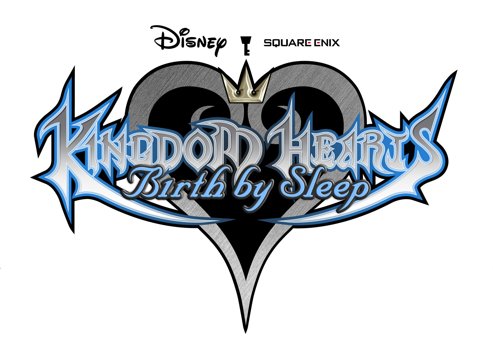 Below I present you all Kingdom Hearts logo from each series
