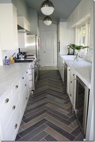Everyday Tile Extraordinary With Herringbone Patterned Tile BlogHer
