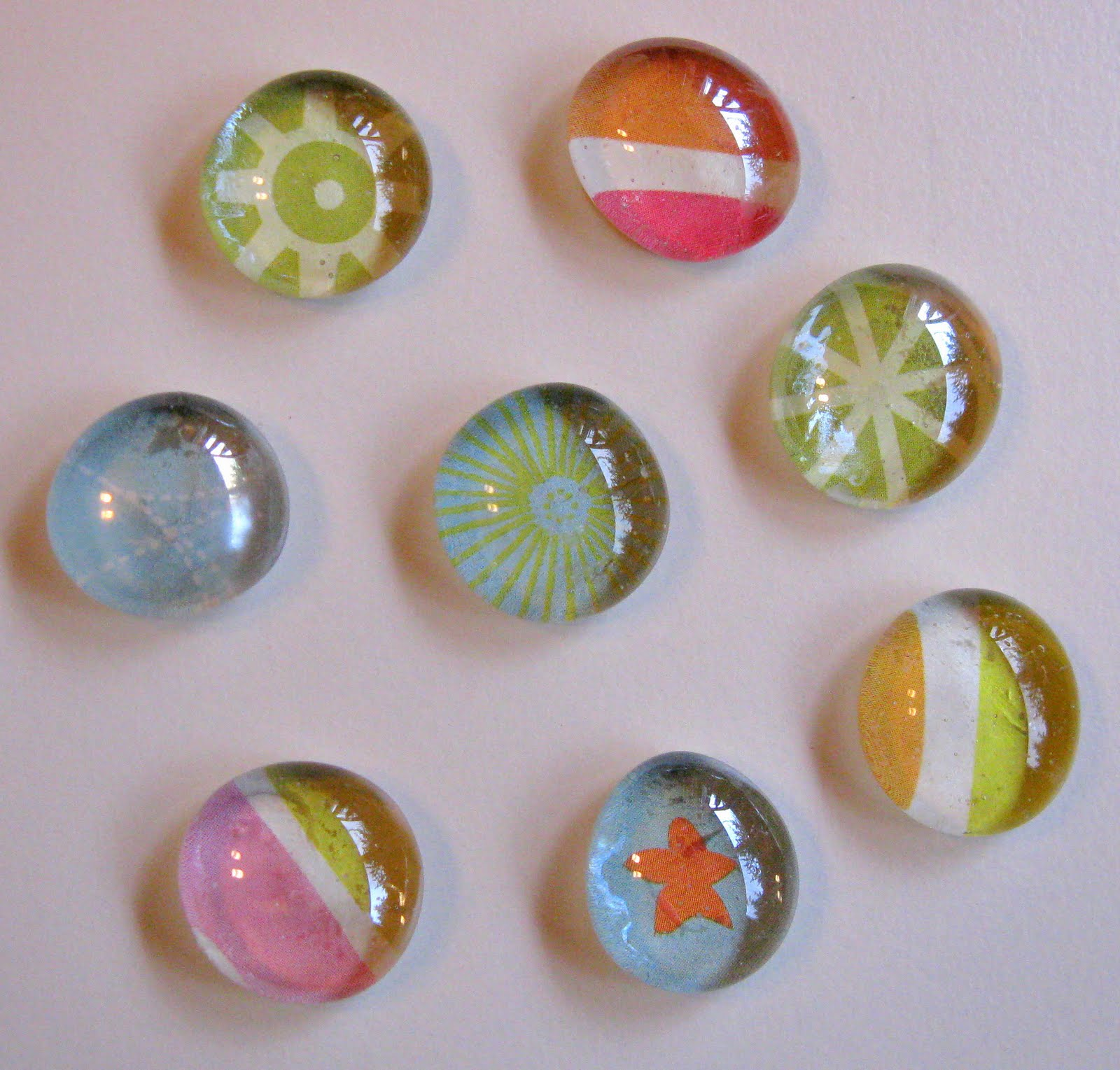 Crafting sick day crafts glass marble magnets for Small magnets for crafts