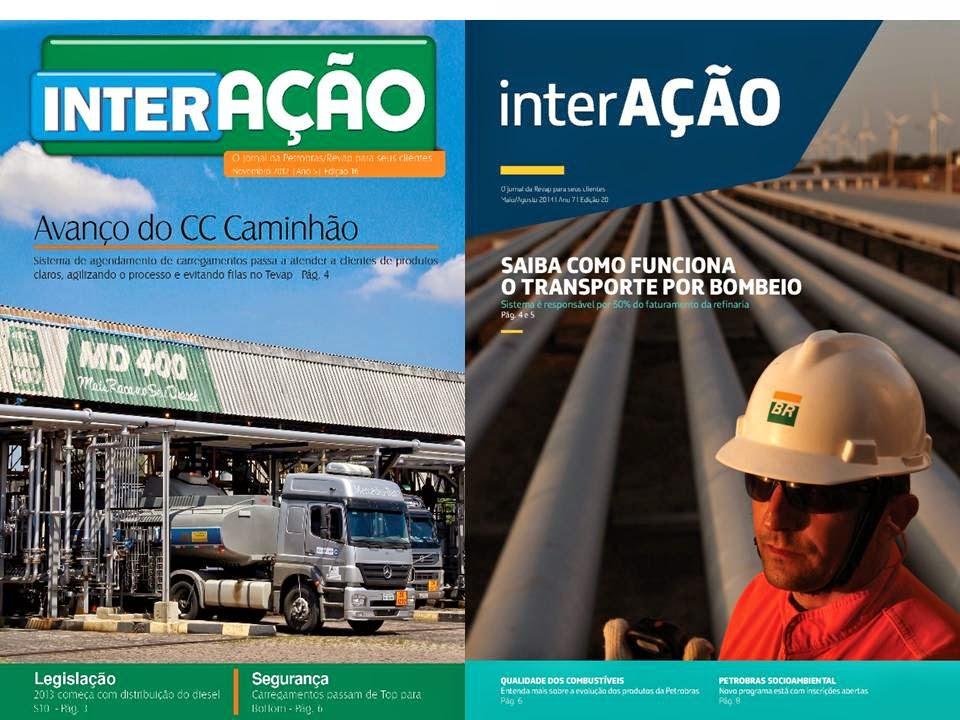Jornal Interação (publicação para clientes da Petrobras/Revap)