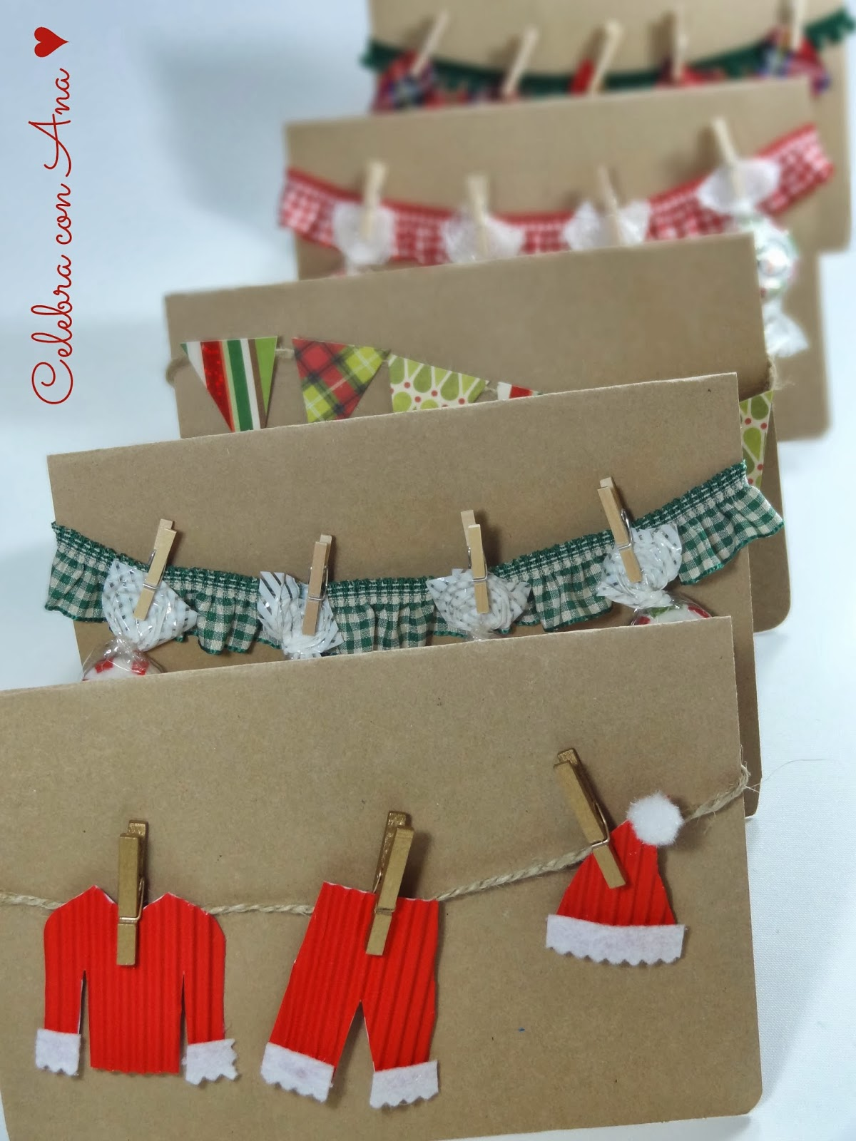 Celebra con ana compartiendo experiencias creativas - Ideas postales navidad ...