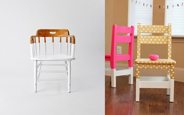 DIY peinture chaises