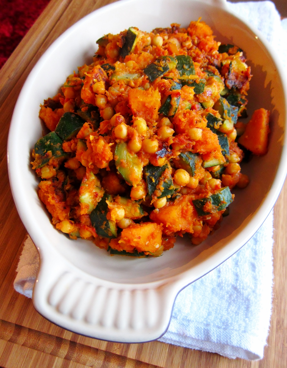 Butternut Squash, Courgette & Chickpea Hash Recipe from Nomsies Kitchen