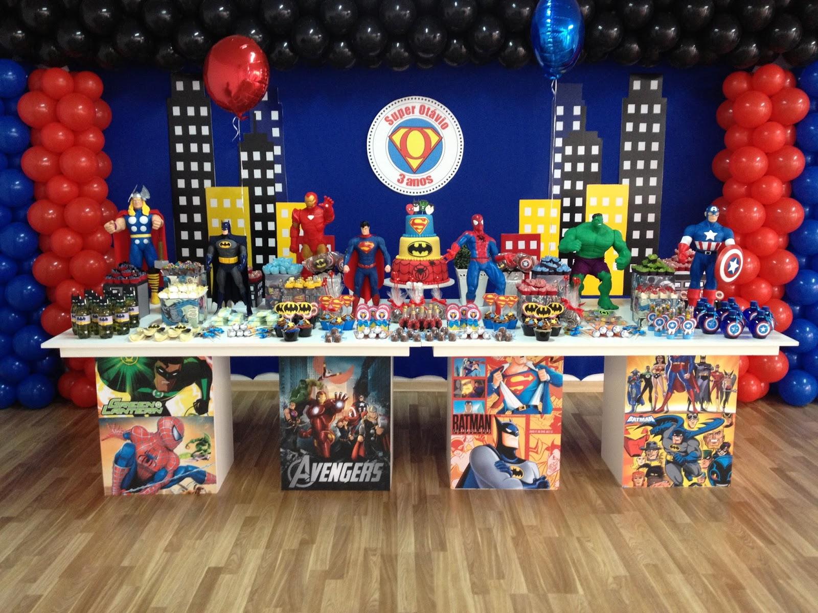 local, festa Super Heróis para o 3º aniversário do lindo Otávio