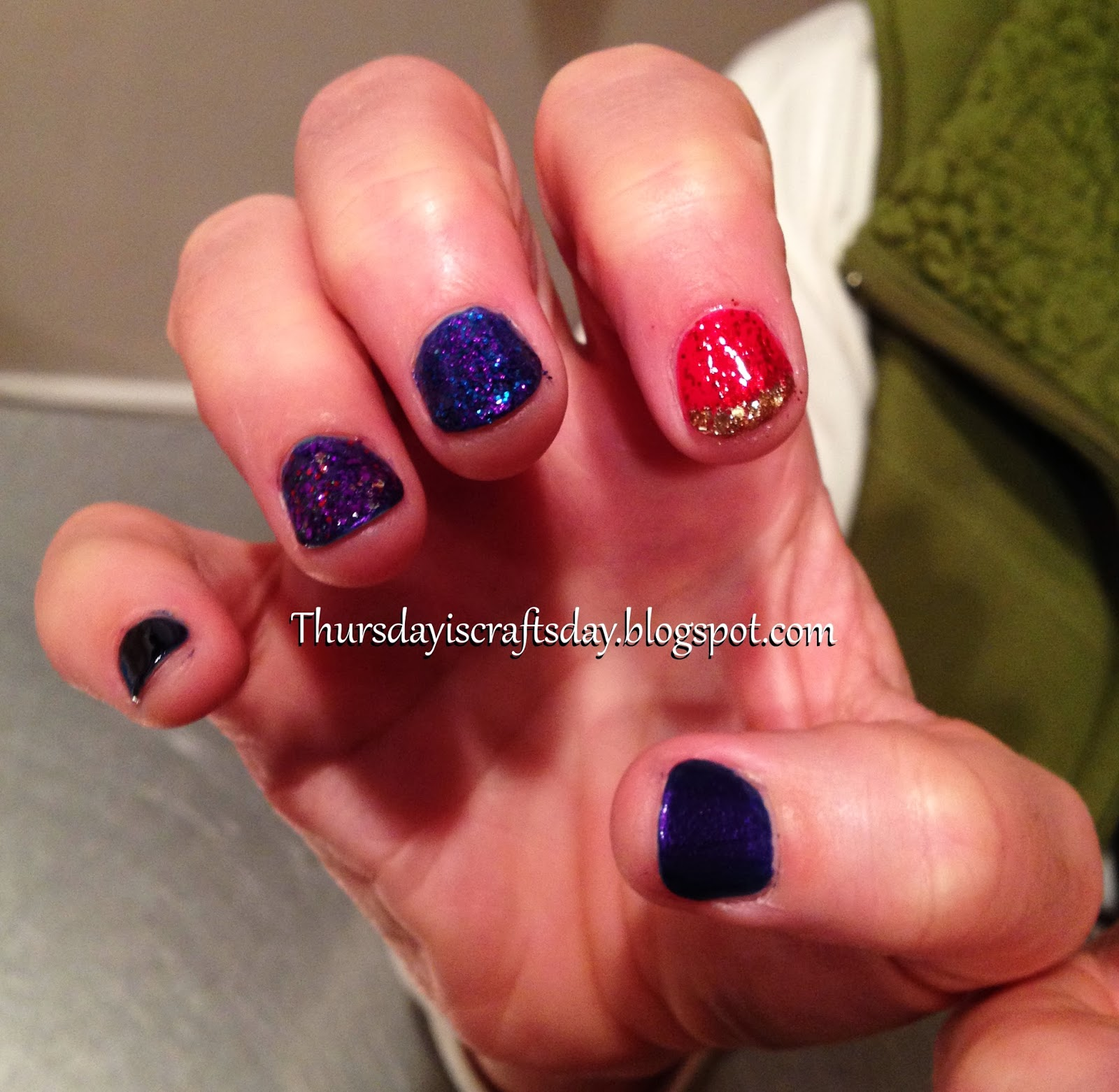 Thursday is Craftsday: Crochet! Or... Not... - Backup Nail Art Project