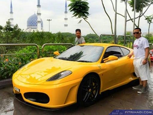 (Kisah Sebenar) Kemalangan Babitkan Kereta Ferrari Zizan