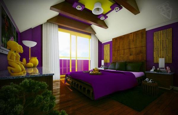 ide warna warna indah untuk kamar tidur rancangan desain