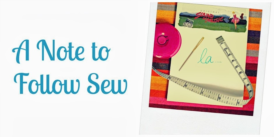 A Note to Follow Sew