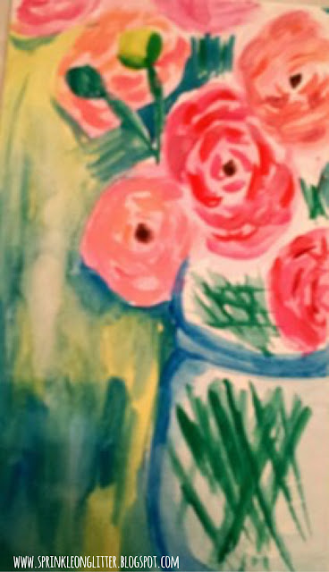 Peony Bouquet- Cezanne- watercolor- write 31 days