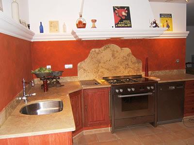 Cuisine bois marbre maisons du monde campagne picture pictures for Cuisine bois campagne