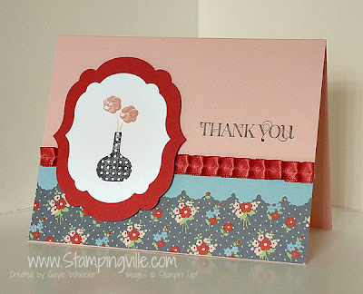 Stampin' Up! Bright Blossoms Stamp Set Card Idea