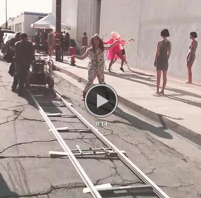Adelanto de Rita Ora grabando su nuevo video musical!