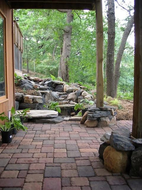 Rustic-Backyard-Waterfall-pavers