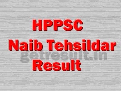 HPPSC Naib Tehsildar Results 2014