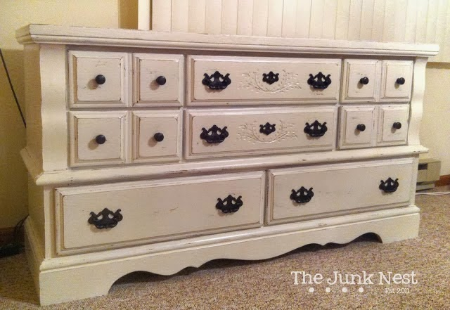 DIY Chalk Painted Dresser After