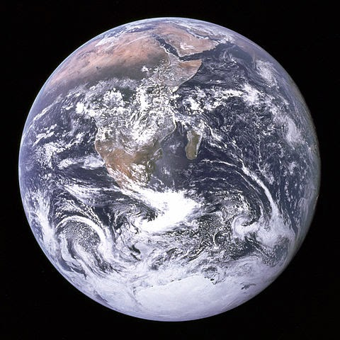 'The Blue Marble' photograph of Earth, taken by the Apollo 17 lunar mission.