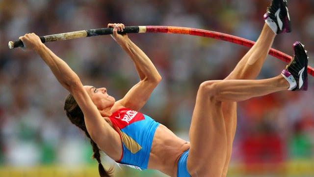 Olympics pole vault Yelna Isinbayeva