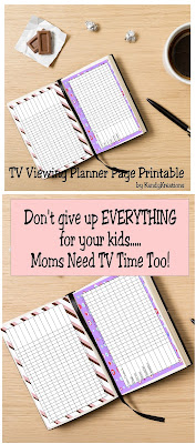 Moms shouldn't have to give up everything for their kids. Keep yourself organized with this TV Planner page printable so when you find a spare moment, you can catch up on your favorite TV shows fast.