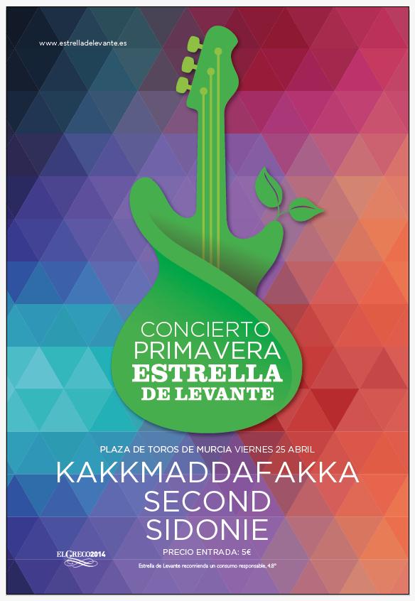 CONCIERTO PRIMAVERA Kakkmaddaffakka, Second y Sidonie gracias a Estrella de Levante