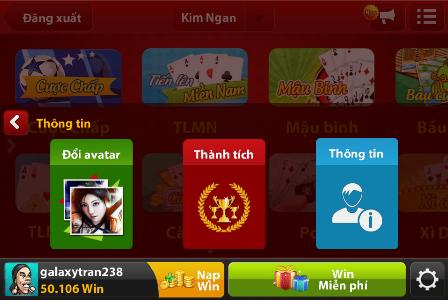 doi avatar trong iwin online