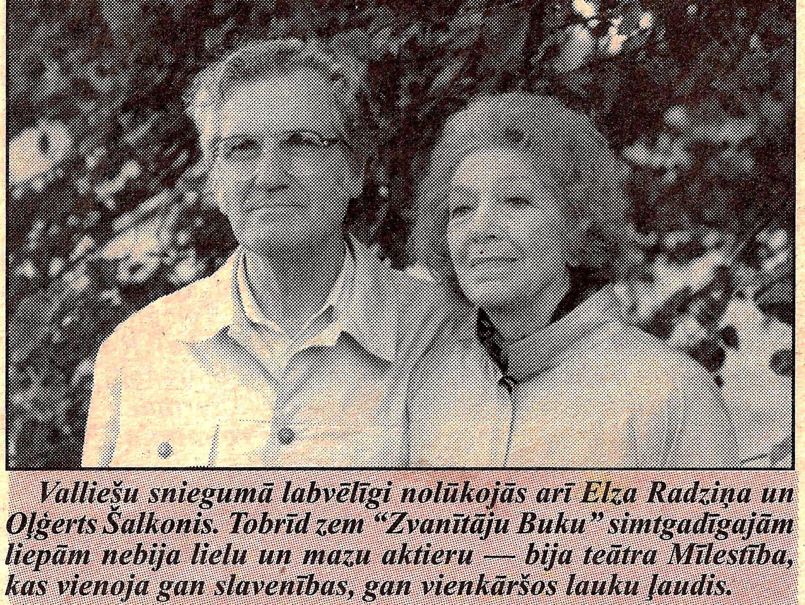 1998. gada 5. augustā - Elza Radziņa un Olģerts Šalkonis