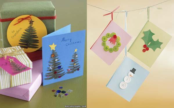 Menta y melisa crear tarjetas de navidad - Como hacer una felicitacion de navidad original ...